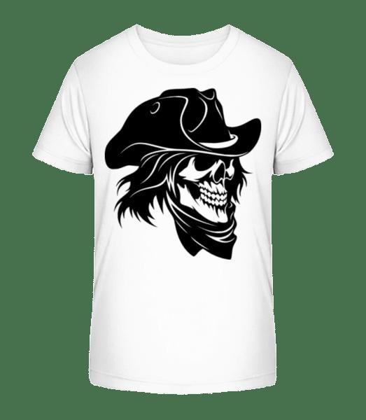 Pirate Skull - Kid's Premium Bio T-Shirt - White - Front