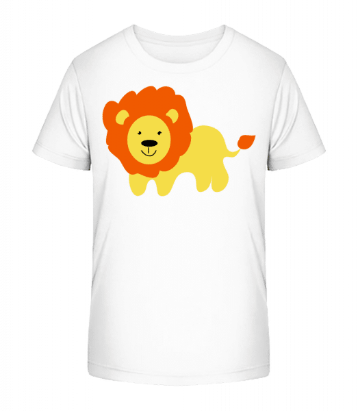 Kids Comic - Lion - Kid's Premium Bio T-Shirt - White - Front