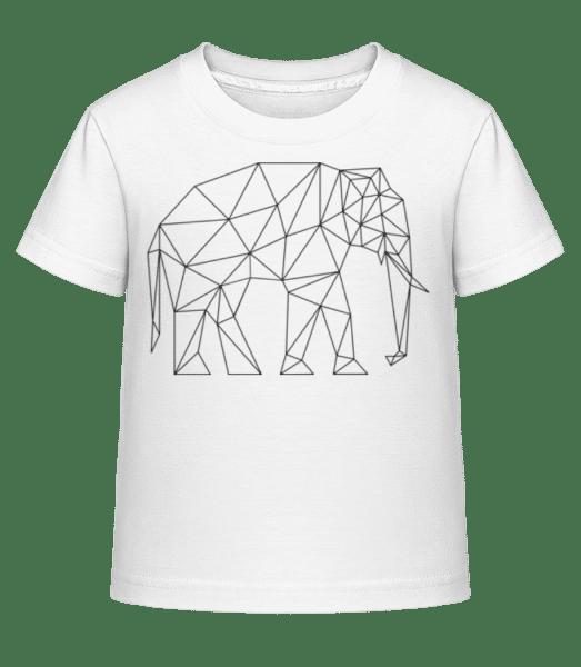 Polygon Elephant - Kid's Shirtinator T-Shirt - White - Vorn