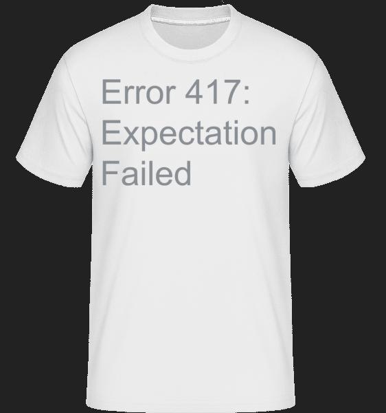 Expectation Failed - Shirtinator Männer T-Shirt - Weiß - Vorn