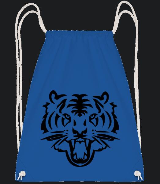 Tiger Head - Drawstring Backpack - Royal blue - Vorn