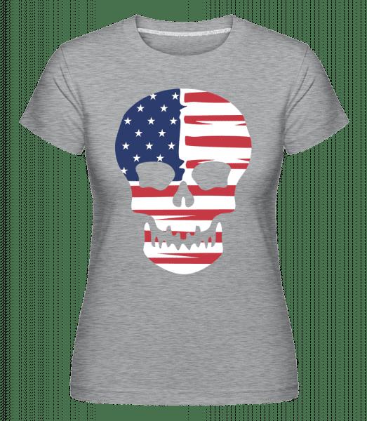 American Skull -  Shirtinator Women's T-Shirt - Heather grey - Vorn