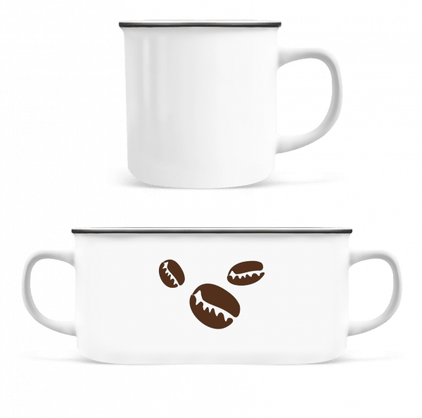 Coffee Beans - Enamel-cup - White - Front