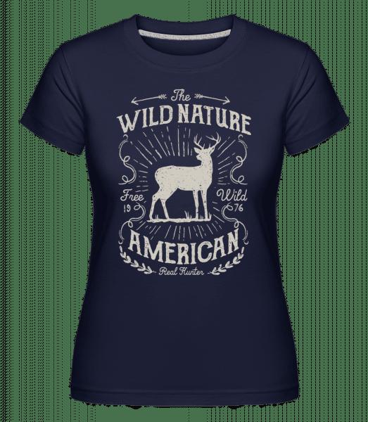 Wild Nature -  Shirtinator Women's T-Shirt - Navy - Vorn