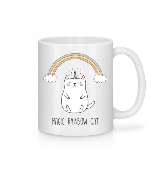 Magic Rainbow Cat - Mug - White - Front