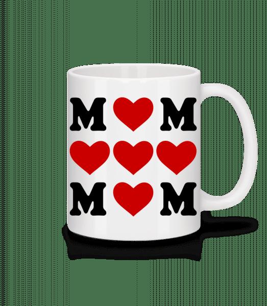 Love Mom Hearts - Mug - White - Vorn