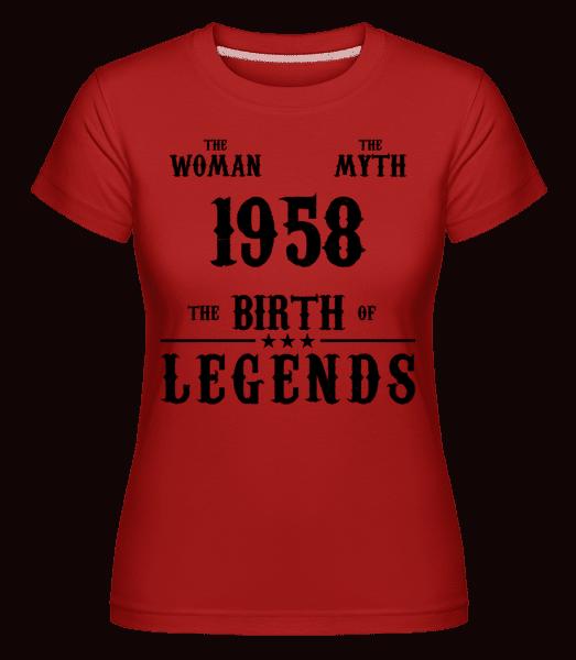 The Myth Woman 1958 -  Shirtinator Women's T-Shirt - Red - Vorn