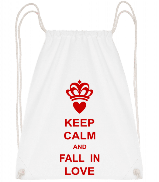 Keep Calm And Fall In Love - Gym bag - White - Vorn