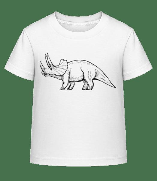 Dinosaur Drawing - Kid's Shirtinator T-Shirt - White - Front