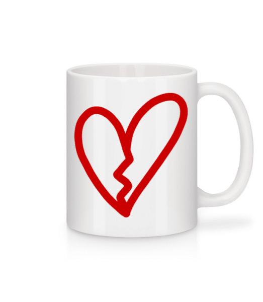 Broken Heart - Mug - White - Front