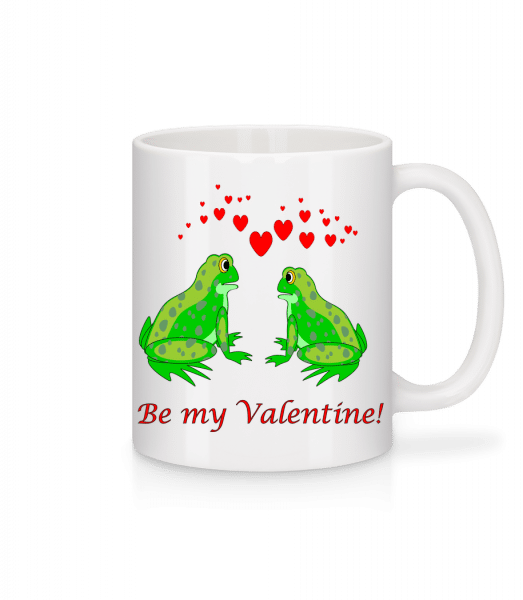 Frogs Be My Valentine - Mug - White - Vorn