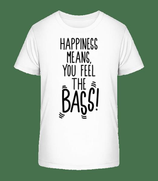 Feel The Bass - Kid's Premium Bio T-Shirt - White - Vorn