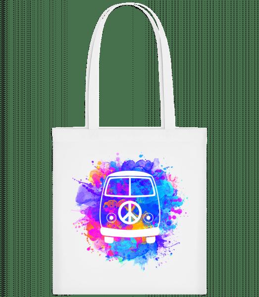 Hippie Bus - Carrier Bag - White - Vorn