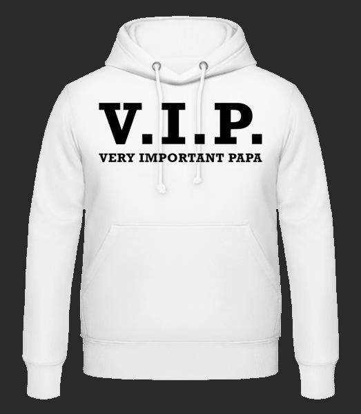 VIP PAPA - Pánská mikina s kapucí - Bílá - Napřed
