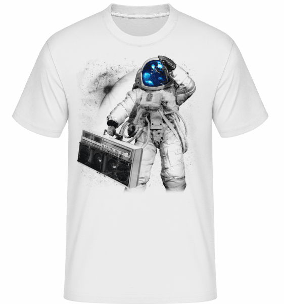 Ghettoblaster Astronaut -  Shirtinator Men's T-Shirt - White - Vorn