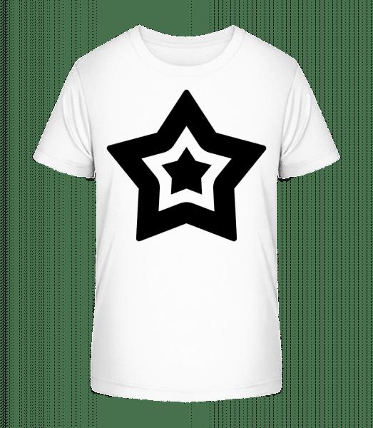 Star Symbol - Kid's Premium Bio T-Shirt - White - Vorn