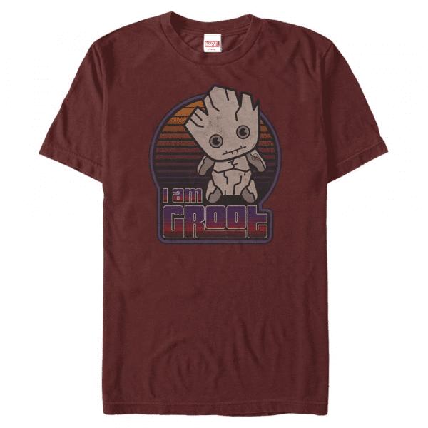 GrootPot Kawaii - Marvel Guardians of the Galaxy - Men's T-Shirt - Cherry - Front