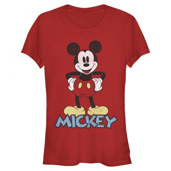 90s Mickey Mouse - Disney - Women's T-Shirt - Red - Front