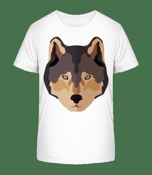 Wolf Comic Shadow - Kid's Premium Bio T-Shirt - White - Vorn