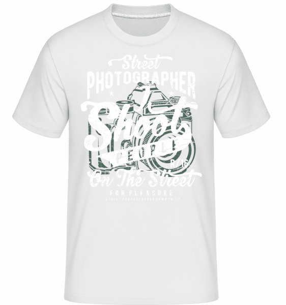 Street Photographer - Shirtinator Männer T-Shirt - Weiß - Vorn