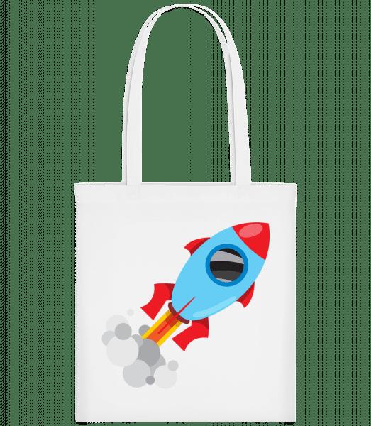 Superhero Rocket - Carrier Bag - White - Vorn