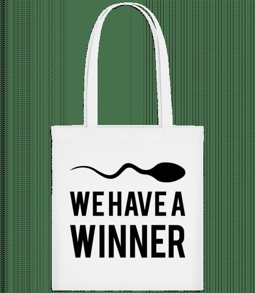Sperm Winner - Carrier Bag - White - Vorn