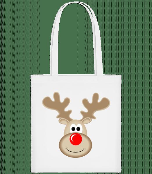Reindeer Logo - Carrier Bag - White - Vorn