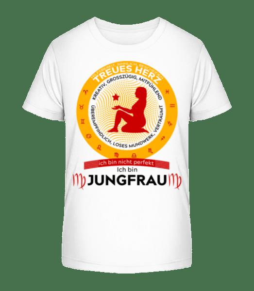 Sternzeichen Jungfrau - Kinder Premium Bio T-Shirt - Weiß - Vorn