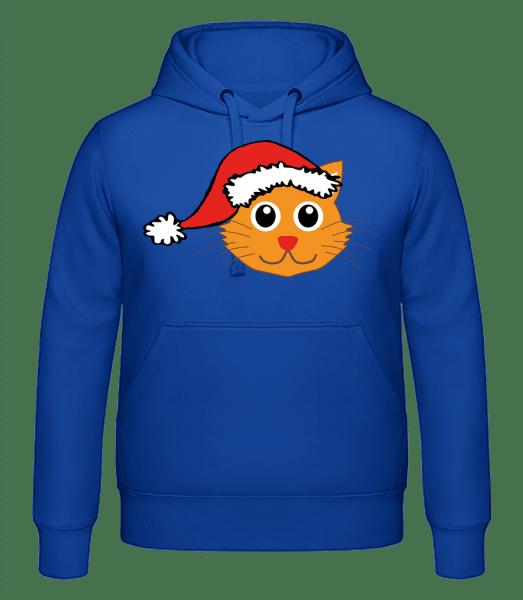Santa Cat - pánska mikina - Kráľovská modrá - Predné