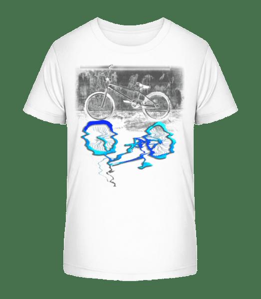 Bicycle Puddle - Kid's Premium Bio T-Shirt - White - Vorn