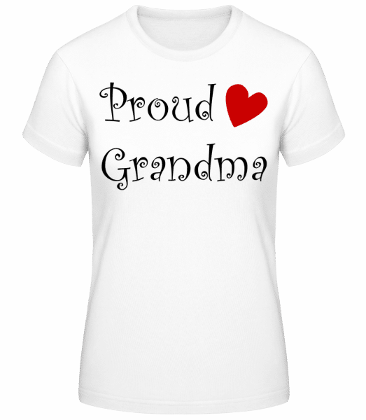 Proud Grandma - Women's Basic T-Shirt - White - Front