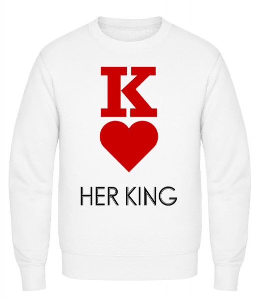 Her King - Classic Set-In Sweatshirt - White - Vorn