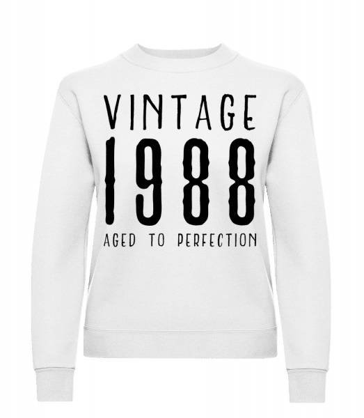 Vintage 1988 Aged To Perfection - Classic Ladies' Set-In Sweatshirt - White - Vorn