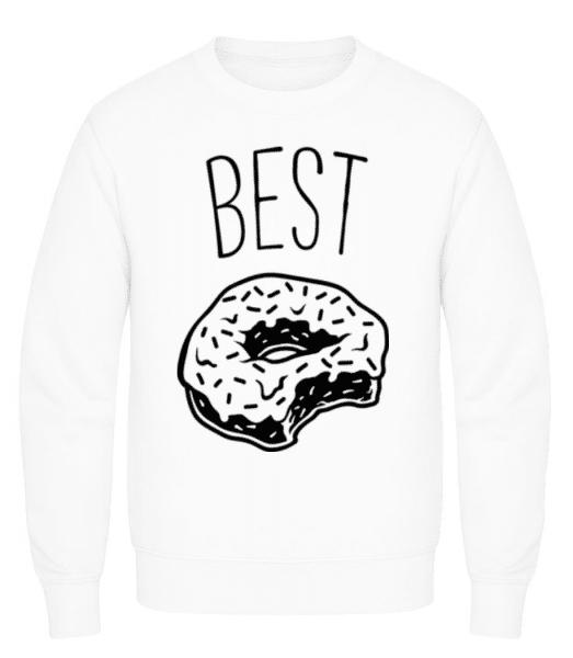 Best Donut - Men's Sweatshirt - White - Front