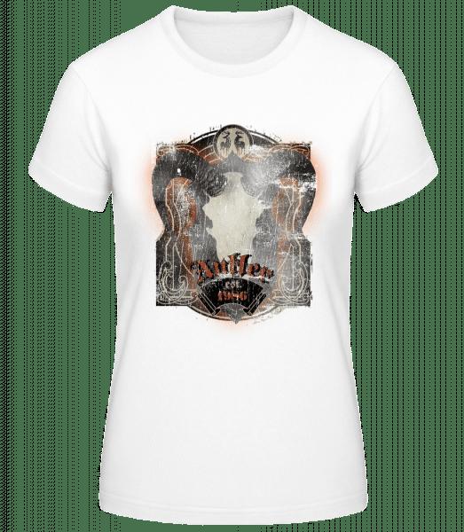 Buffalo Skull Vintage - Women's Basic T-Shirt - White - Vorn