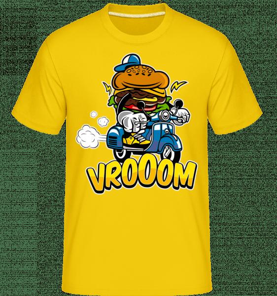 Burger Scooter -  Shirtinator Men's T-Shirt - Golden yellow - Front