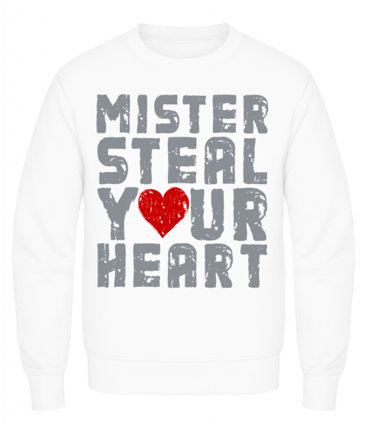 Mister Steal Your Heart - Men's Sweatshirt AWDis - White - Vorn