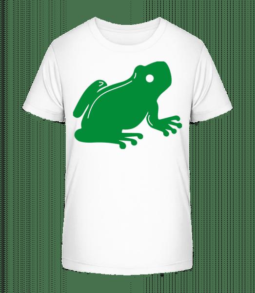 Sitzender Frosch - Kinder Premium Bio T-Shirt - Weiß - Vorn