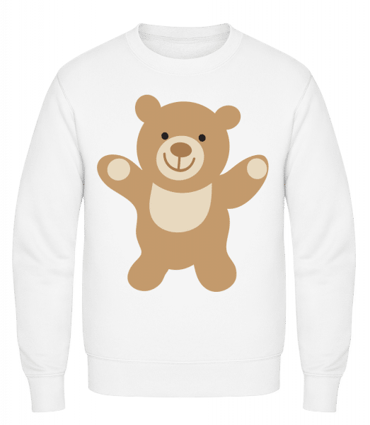 Kids Comic - Bear - Classic Set-In Sweatshirt - White - Vorn