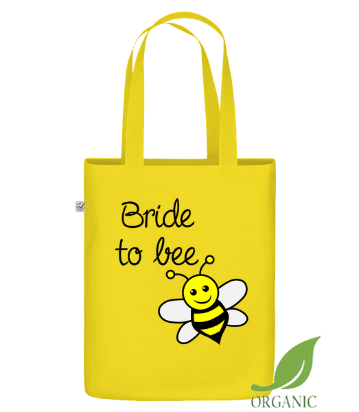 "Bride To Bee - Organic ""Earth Positive"" tote bag - Yellow - Vorn"