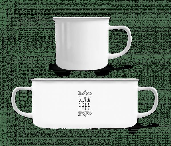 Gluten Free - Enamel-cup - White - Vorn