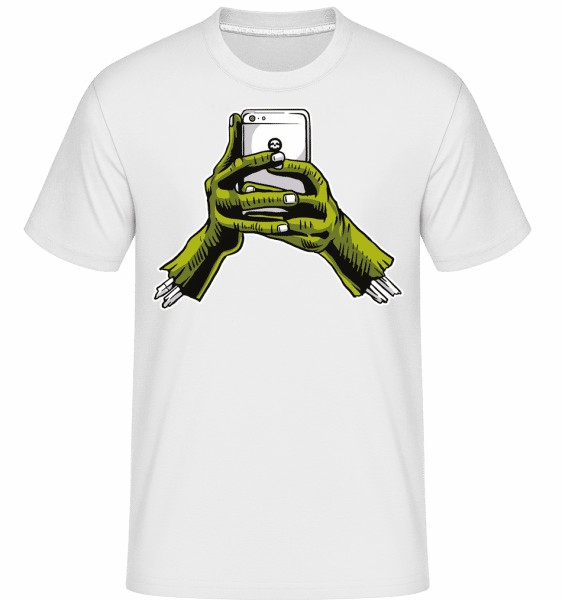 Zombie Phone -  Shirtinator Men's T-Shirt - White - Front