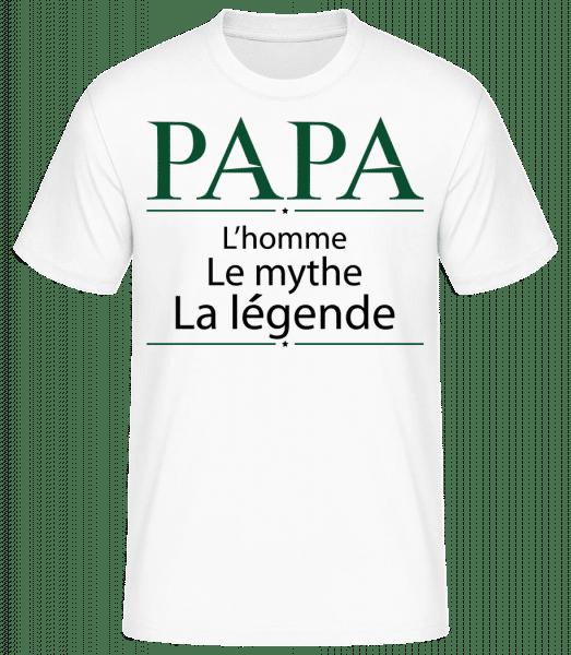 Papa La Légende - T-shirt standard Homme - Blanc - Vorn