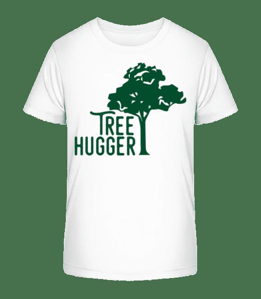 Tree Hugger - Kinder Premium Bio T-Shirt - Weiß - Vorn