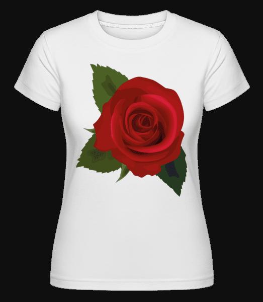 Rose Red -  Shirtinator Women's T-Shirt - White - Vorn