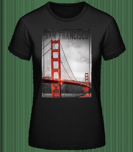 San Francisco Golden City - Dámské basic tričko - Černá - Napřed