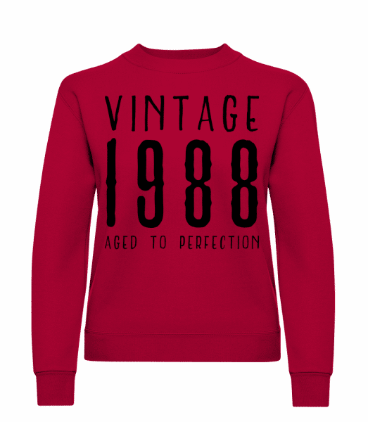 Vintage 1988 Aged To Perfection - Classic Ladies' Set-In Sweatshirt - Red - Vorn