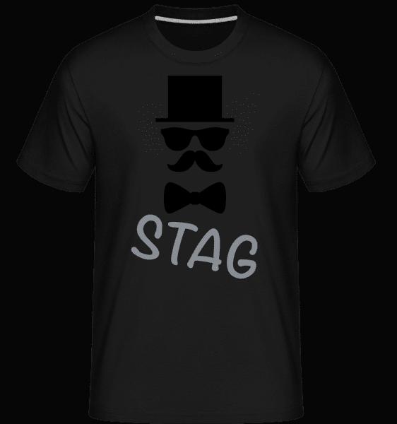 Stag - Mustache -  Shirtinator Men's T-Shirt - Black - Vorn