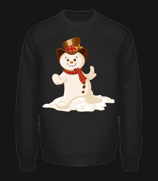 Snowman With Hat - Unisex Sweatshirt - Black - Vorn