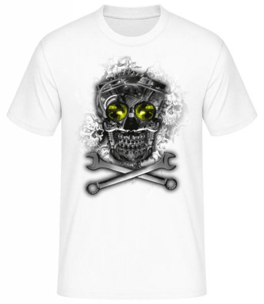 Machine Skull - Men's Basic T-Shirt - White - Front
